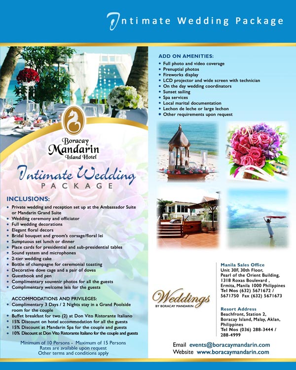 90 Beach Wedding Packages